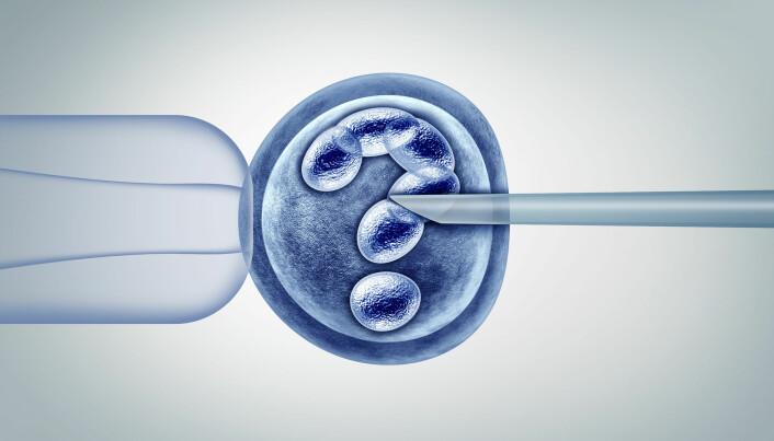 CRISPR kan benyttes til å redigere genene til et befruktet egg.