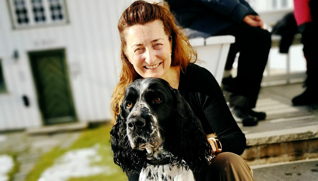 May-Britt Moser and her dog, Fado.
