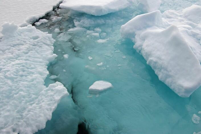 """""""Satellitter gir gode data om isutbredelsen, men vi mangler gode data om istykkelsen i Arktis."""" (Foto: Bjørnar Kjensli)"""
