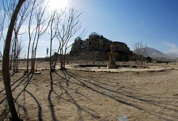 """Kongepalasset i Kabul. (Foto: NTNU/Vitenskapsmuseet)"""