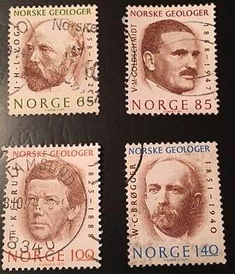 Goldschmidt er i liten grad minnet her i Norge. Men i 1974 var han en av de store norske geologene som prydet norske frimerker.