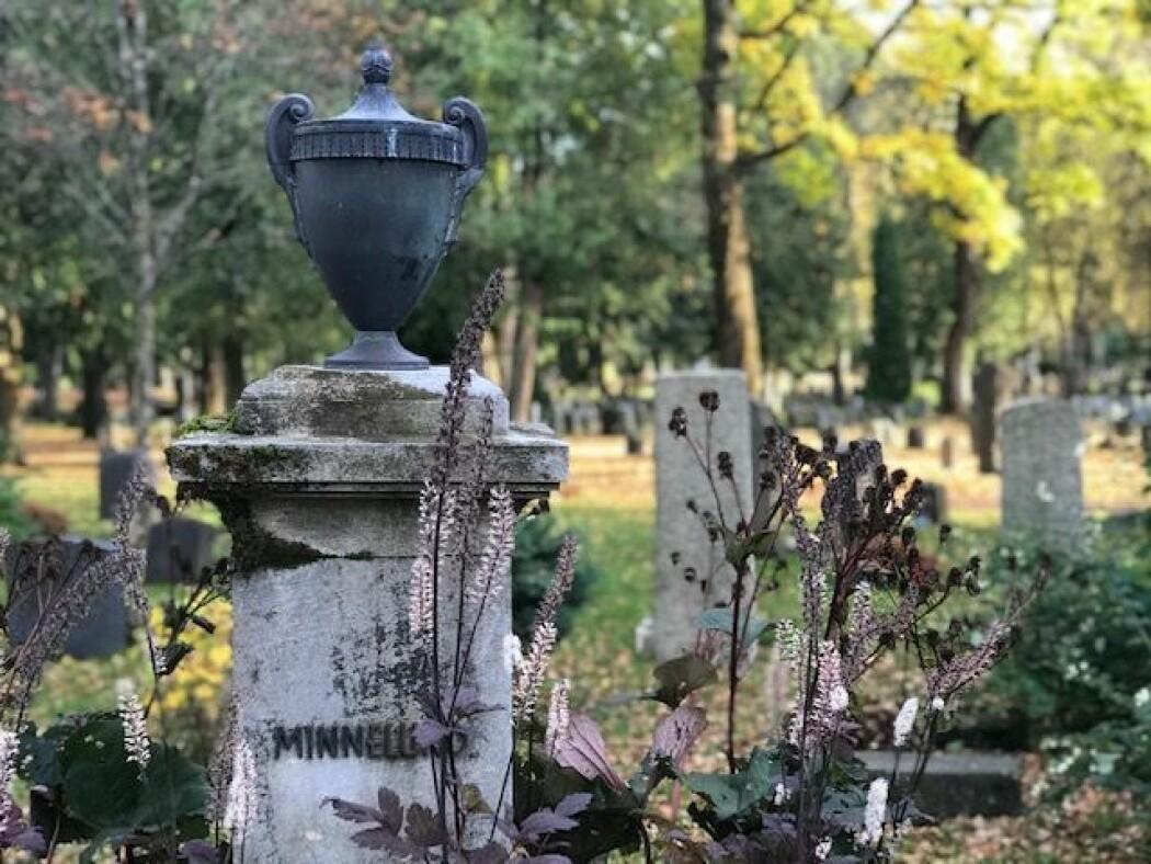 På denne minnelunden for anonyme graver ved Vestre Gravlund i Oslo ligger asken etter Victor Moritz Goldschmidt. Hans arbeidssted Universitetet i Oslo var hans nærmeste pårørende. De ville ikke ta på seg ansvaret for en gravstein.