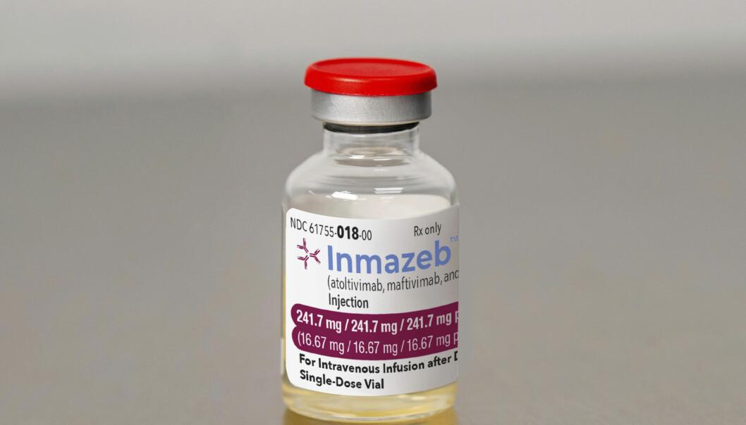 Dette er det aller første legemiddelet som er godkjent som behandling mot ebola. En amerikansk studie viser til vesentlig nedsatt dødelighet hos pasienter som behandles med Inmazeb, og spesielt der medisinen gis tidlig i sykdomsforløpet.
