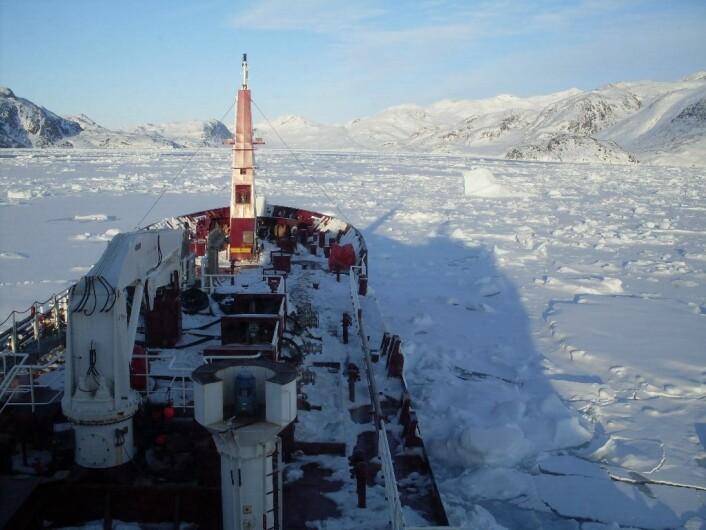En tanker i Arktis. (Foto: Colourbox)