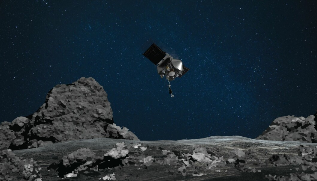 I natt strakk en NASA-sonde ut robotarmen for å ta prøver av asteroiden Bennu