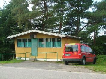 Denne gamle nedlagte kiosken i Sarpsborg lever også i lokalbefolkningens minne. (Foto: NIKU)