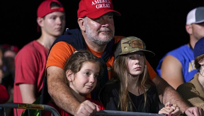 Trump-supportere under et valgmøte i Nord-Carolina.