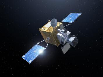 De seks satellittene i Europas nye generasjon av værsatellitter vil gå i bane over ekvator. (Illustrasjon: ESA/P. Carril)