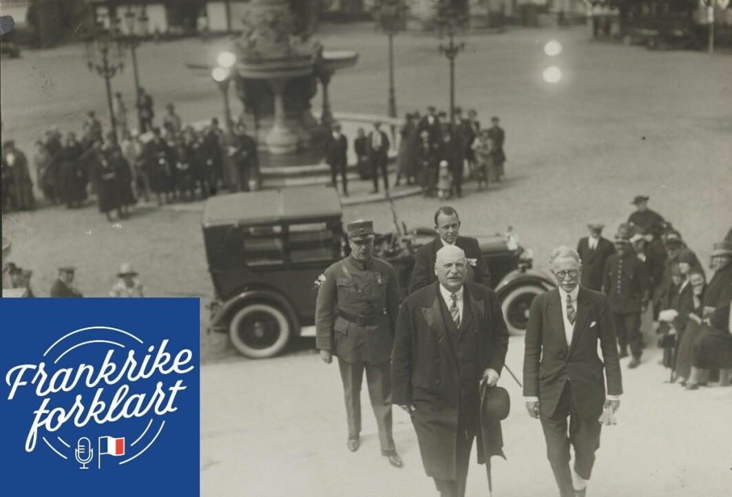 Diplomat Fritz Wedel Jarlsberg tas i mot i Paris i 1927. Jarlsberg var norges sendemann til Paris fra 1906 og levde store deler av livet sitt der. Han regnes som en av århundrets viktigste norske diplomater.