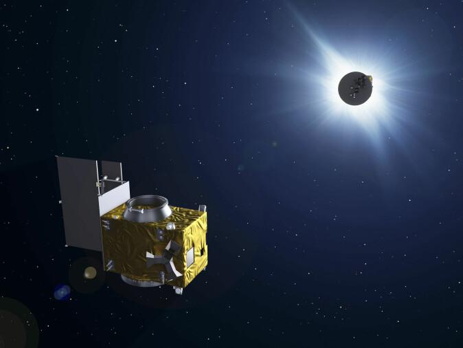 Den ene av de to Proba 3-satellittene – den som befinner seg i den ytterste banen om jorden og dermed er tettest på solen – skal skygge for selve solen. Dermed kan den andre få bedre bilder av solens korona.
