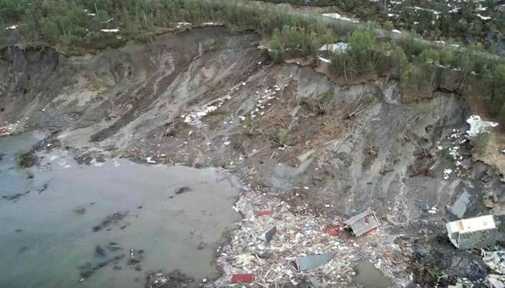 Kvikkleireskred starter ofte uten forvarsel, og kan gjøre stor skade, som her i Alta.