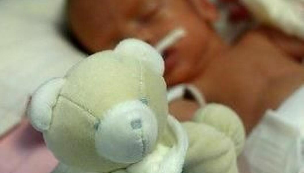 For tidlig fødte er svært sårbare og har større risiko for å utvikle en hjerneskade. Det kan blant annet gå ut over synet. (Foto: Colourbox) Colourbox
