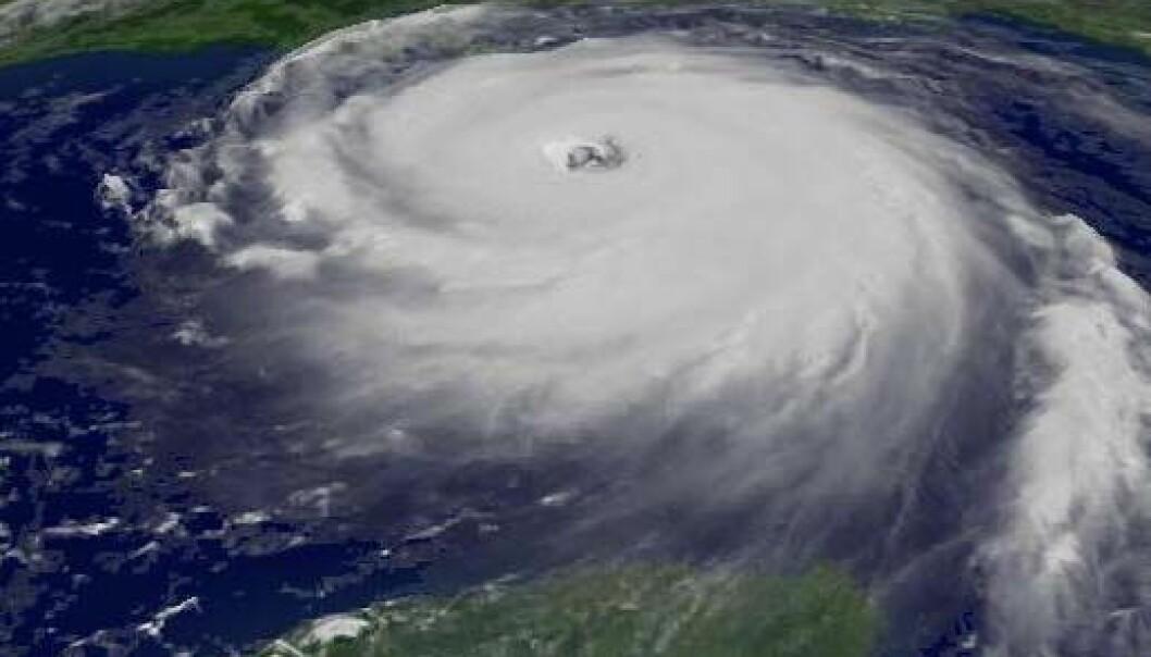 Knytter store orkaner til forurensning