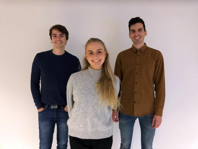 Studentene Sondre Ek, Victoria Welle Fjellbirkeland og Eric Veliyulin har bidratt til spillet.