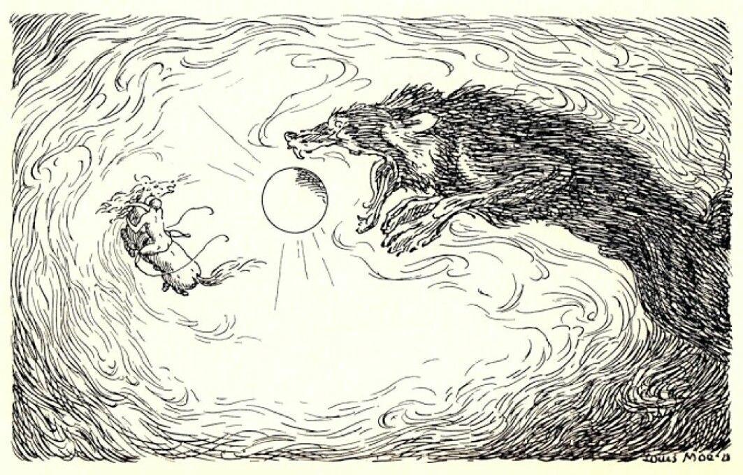 Fenrisulven sluker Sola. Klimakatastrofen som begynte året 536 var ganske sikkert den mest dramatiske nedkjølingen mennesker, dyr og planter har opplevd de siste to tusen årene.