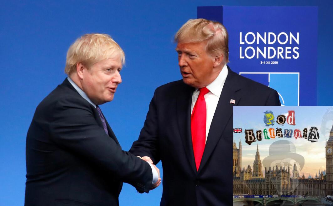 Den britiske statsministeren Boris Johnson hilser på president Donald Trump på et NATO-møte i 2019. Forholdet mellom de to landene har alltid vært spesielt, ifølge Winston Churchill.