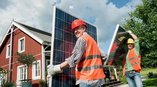Hvem skaffer seg solcellepanel hjemme?