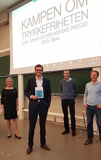Doktorgradsavhandlinga er ein del av omfattande forsking på Norden. På bildet fra venstre: Hilde Sandvik, Kristian Holen Nymark, Kai Peter Østberg og Morten Nordhagen Ottosen.