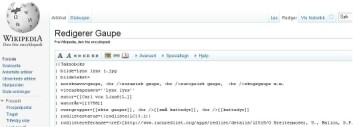 Slik ser siden ut dersom du vil redigere artikkelen om gaupe på Wikipedia. (Bilde: skjermdump)
