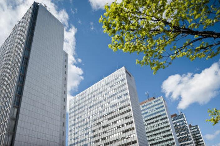 I Stockholm er en rekke høyhus samlet mellom Hötorget og Sergels Torg i Norrmalm i Stockholm. Bygningene er over 70 meter høye og ble bygget på 50- og 60-tallet. (Foto: iStockphoto)