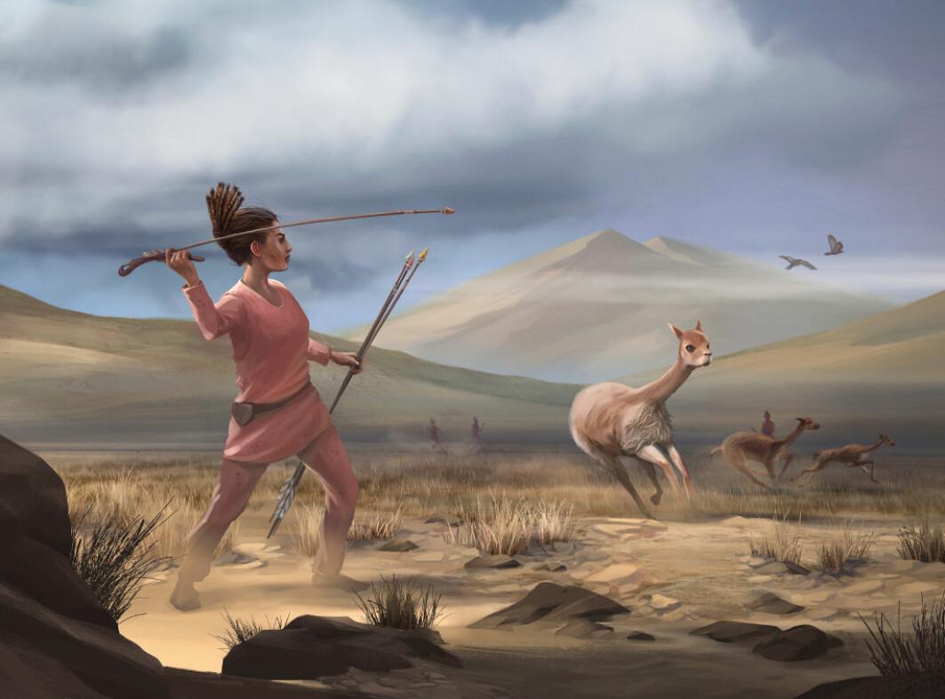 Kanskje så hun slik ut, den kvinnelige storviltjegeren som levde i Amerika for 9000 år siden?