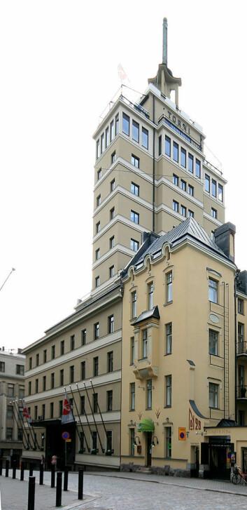 Da Hotel Torni ble bygget i 1931 var det Finlands høyeste bygg med sine 13 etasjer og 60 meter. (Foto: Mahlum/Wikimedia Commons)