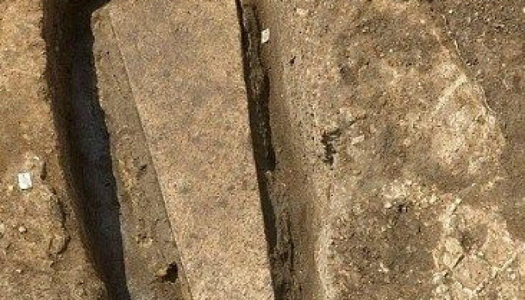 Denne steinkisten ble funnet samtidig som arkeologer fant kong Richard III. University of Leicester