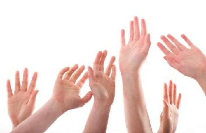 Ingen hender er helt like, og vi har også litt ulikt lengdeforhold mellom ringefinger og pekefinger, som knyttes til testosteron i fosterstadiet.(Illustrasjonsfoto: iStockphoto)