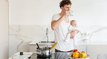 Svenske menn rapporterer at de ble mindre stresset med mer pappa-perm