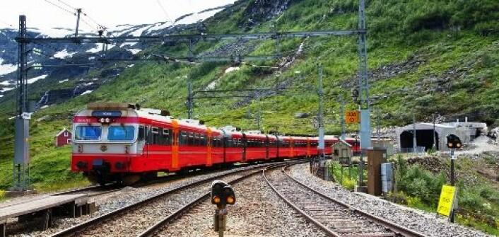 Det er kamp om den begrensede tilgangen på jernbanelinjen, både mellom passasjerer og gods og mellom ulike togselskaper. (Foto: Shutterstock)