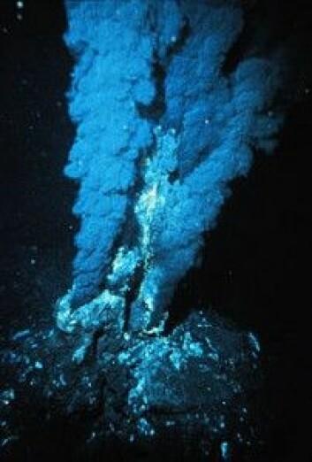 En black smoker i Atlanterhavet. (Foto: Oceanic and Atmospheric Administration)