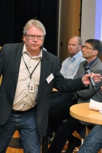 Her er avdelingsdirektør ved NGU, Tom Heldal, sammen med kolleger fra inn- og utland under et arbeidsmøte i Trondheim. (Foto: NGU)