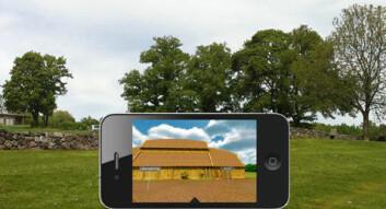 Slik kan de se ut på mobilskjermen når man går rundt ved Borrehallen. (Foto: INVENTIO-prosjektet)