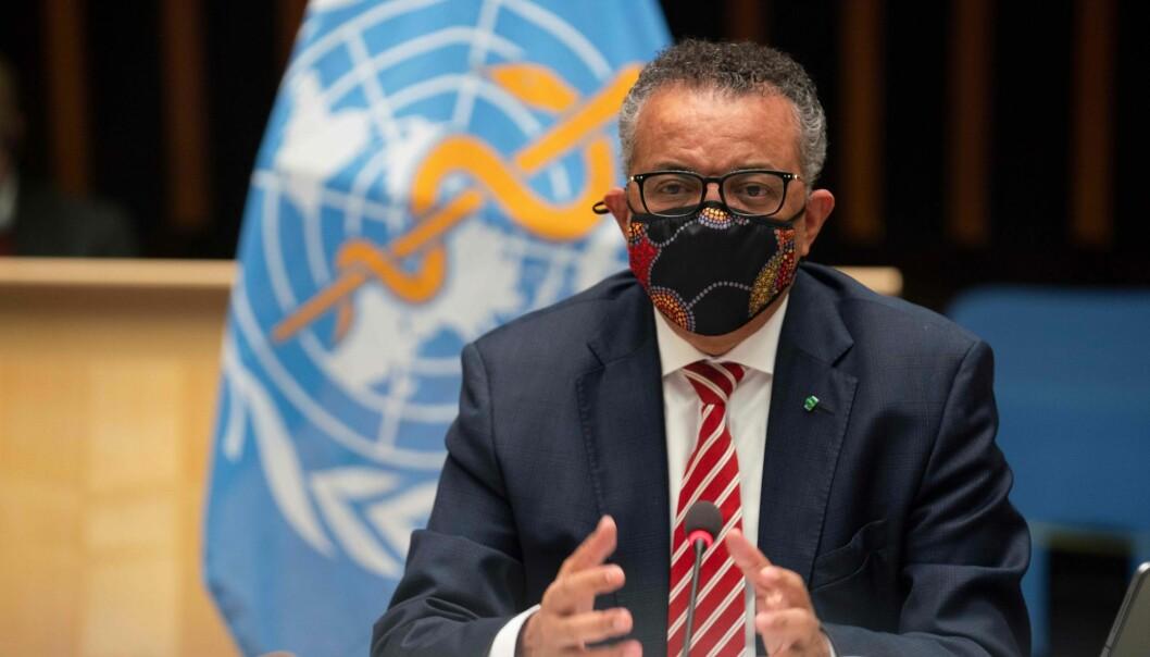 Kan Verdens Helseorganisasjon gå i spissen og bestemme tiltakene mot koronaviruset? Her er lederen Tedros Adhanom Ghebreyesus under et møte i oktober i år.
