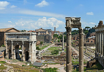 Who lost when the ancient wonders of Rome were built?