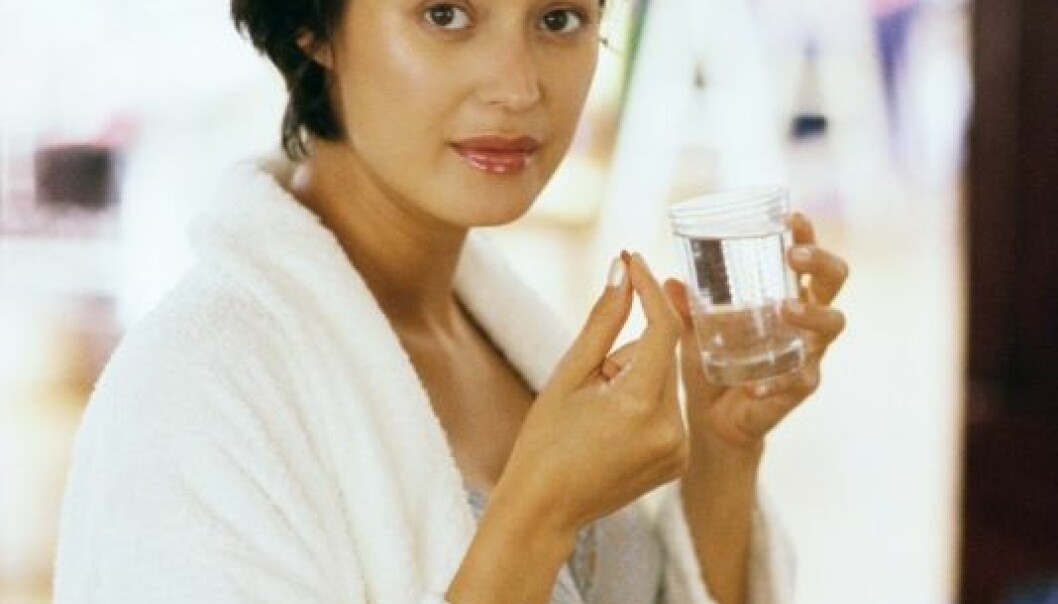 """""""Kvinner som tar vitaminpiller i fire uker før unnfangelsen og de første åtte uker av graviditeten, har mindre risiko for å føde før uke 37. (Foto: Colourbox)"""" Colourbox"""