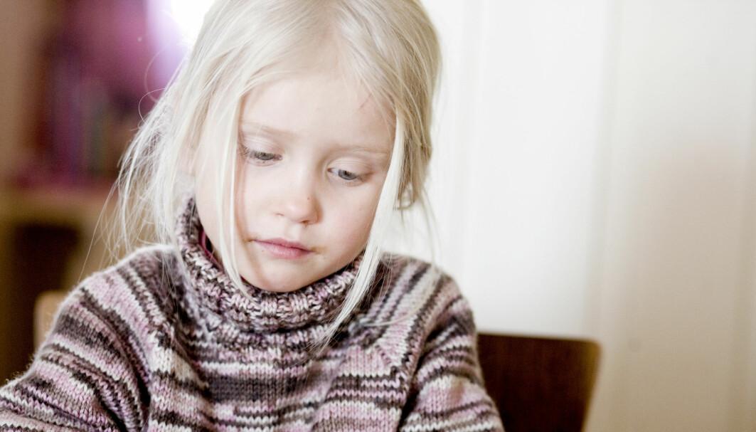 Symptomer på depresjon ble målt hos alle barna da de var åtte år gamle.