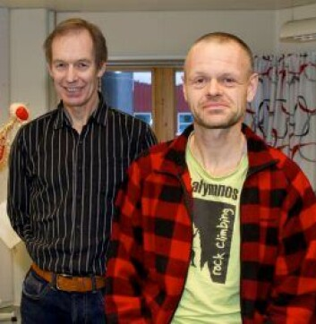 Rune Waaler (t.h.) og Tor Oskar Thomassen. (Foto: Inger Elin Utsi/UiT