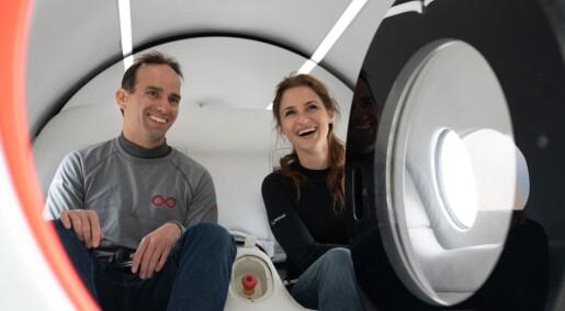Mennesker har kjørt med en hyperloop for første gang