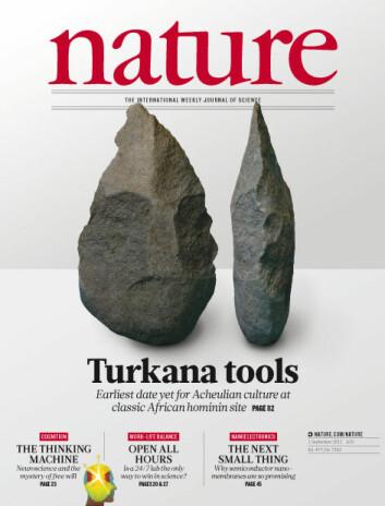 Funnet av de 1,76 millioner år gamle redskapene ble publisert i Nature, 1. september 2011. (Foto: Nature)