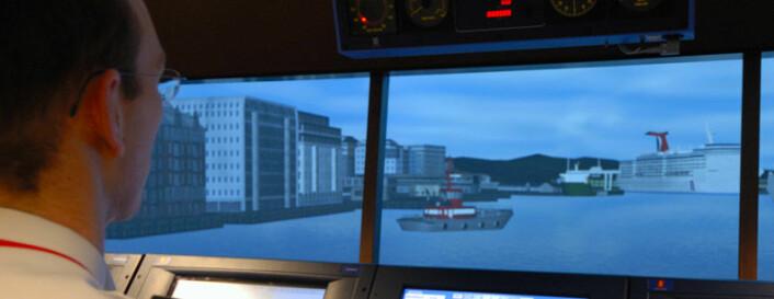 Navigasjonssimulatoren på Sjøkrigsskolen (Foto: Sjøforsvaret)