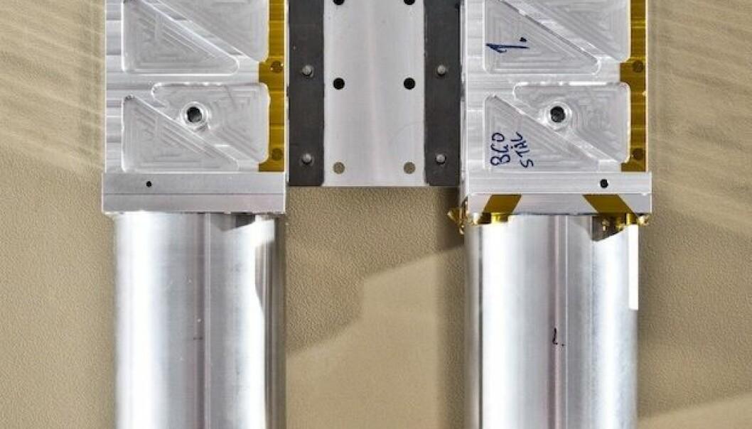 Detektoren, som blir bygd i Bergen, skal sitje på den internasjonale romstasjonen og sjå etter gammaglimt, stråling frå lyn høgt oppe i atmosfæren. Eivind Senneset/UiB