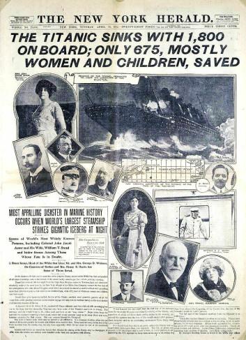 Da Titanic sank, fikk kvinner og barn gå først i livbåtene. Det er et av svært få tilfeller fra historien der normen faktisk har slått ut i praksis. (Foto: (Bilde: Wikimedia Creative Commons))