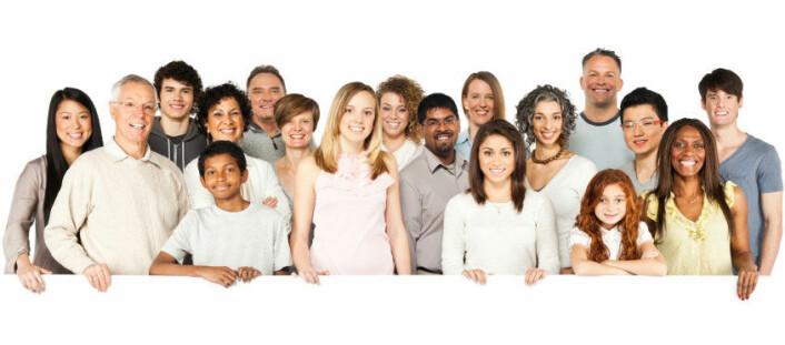 Når vi ser mange ansikter sammen, så lager vi et slags gjennomsnittsbilde av hvordan fjesene ser ut, ifølge forskerne. (Foto: iStockphoto)