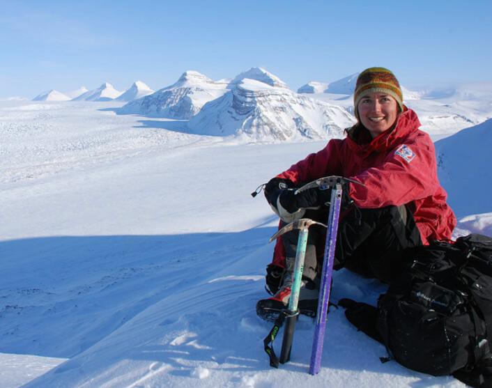 Anne Chapuis på Svalbard (Foto: privat)