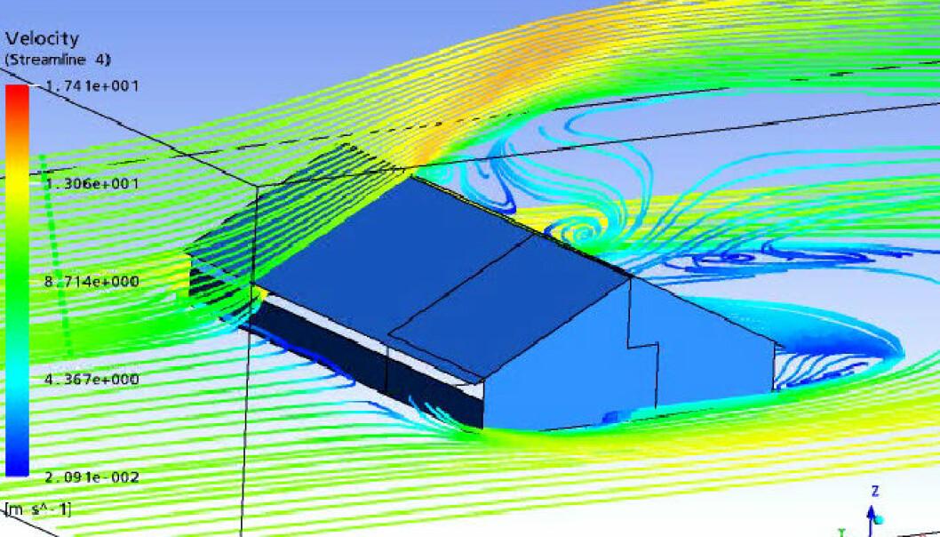 """""""Numerisk simulering av vindforholdene rundt et løsdriftfjøs."""""""