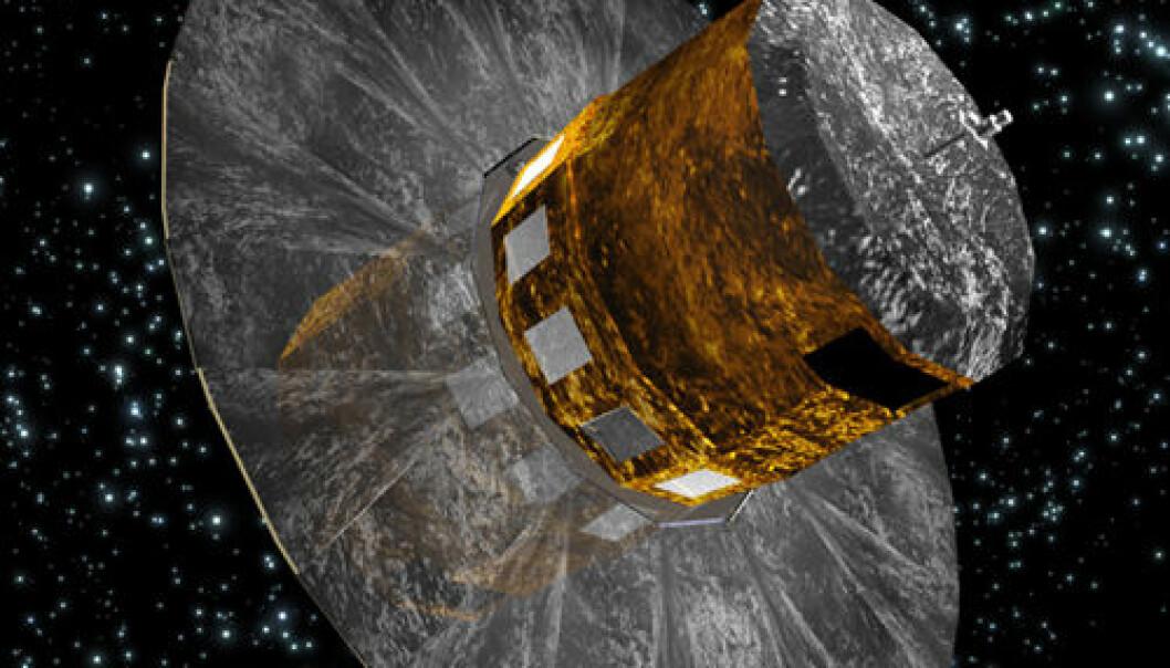 ESAs romteleskop Gaia. (Illustrasjon: ESA - C. Carreau)