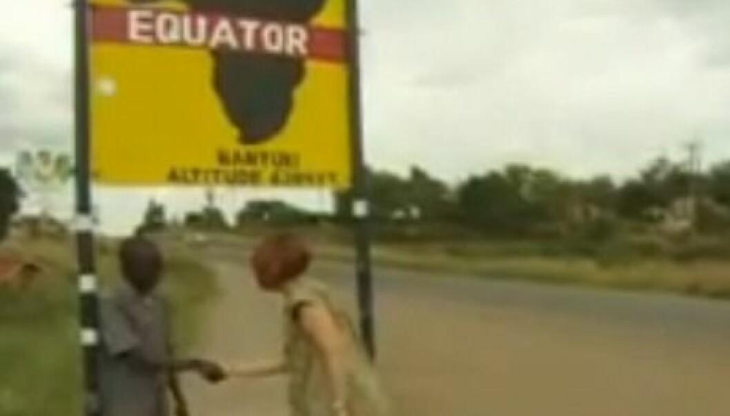 Skjermdump fra BBC-video