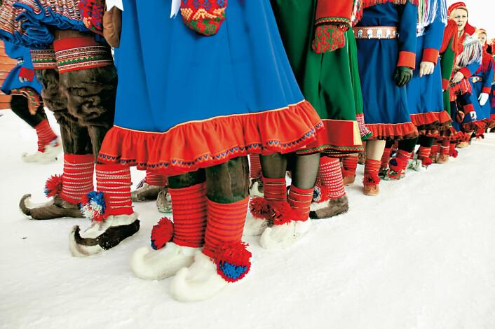 Samiske menn er tynnere enn gjennomsnittet, mens samiske kvinner er tykkere. (Foto: Karin Beate Nøsterud, norden.org)