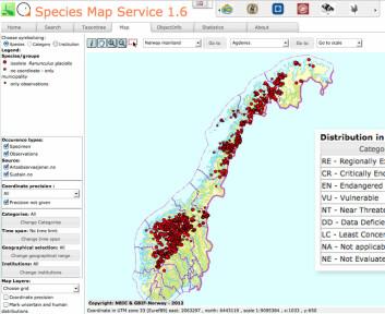 I forhold til folketallet er nordmenn på andreplass i å dele data om arter, kun slått av Sverige. (Foto: (Illustrasjon: Artsdatabanken))